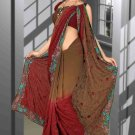 Indian Bollywood Designer Saree Embroidered Sari - TU6045