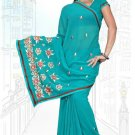 Indian Bollywood Designer Saree Embroidered Sari - TU5998