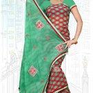 Indian Bollywood Designer Saree Embroidered Sari - Tu6733