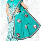 Indian Bollywood Designer Saree Embroidered Sari - TU6704