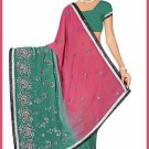 Indian Bollywood Designer Saree Embroidered Sari - TU6256