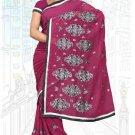 Indian Bollywood Designer Saree Embroidered Sari - TU6217
