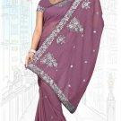 Indian Bollywood Designer Saree Embroidered Sari - TU6215