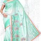 Indian Bollywood Designer Saree Embroidered Sari - TU6206