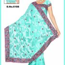 Indian Bollywood Designer Saree Embroidered Sari - TU6188