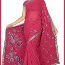 Indian Bollywood Designer Saree Embroidered Sari - TU6173