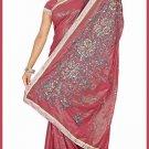 Indian Bollywood Designer Saree Embroidered Sari - TU6170