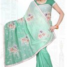 Indian Bollywood Designer Saree Embroidered Sari - TU6147