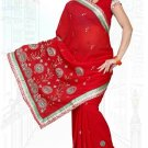 Indian Bollywood Designer Saree Embroidered Sari - TU6139