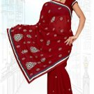 Indian Bollywood Designer Saree Embroidered Sari - TU6012