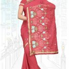 Indian Bollywood Designer Saree Embroidered Sari - TU6208