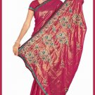 Indian Bollywood Designer Saree Embroidered Sari - TU6122