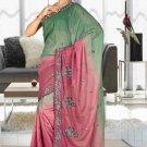 Indian Bollywood Designer Saree Embroidered Sari - TU6039