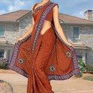 Indian Bollywood Designer Saree Embroidered Sari - TU6026