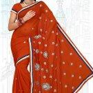 Indian Bollywood Designer Saree Embroidered Sari - TU6014