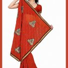 Indian Bollywood Designer Saree Embroidered Sari - TU5977