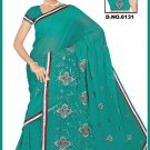 Indian Bollywood Designer Saree Embroidered Sari - TU6131