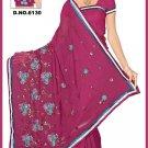 Indian Bollywood Designer Saree Embroidered Sari - TU6130