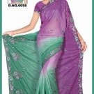Indian Bollywood Designer Saree Embroidered Sari - TU6058