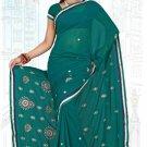Indian Bollywood Designer Saree Embroidered Sari - TU6008