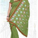 Indian Bollywood Designer Saree Embroidered Sari - TU6001
