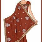Indian Bollywood Designer Saree Embroidered Sari - TU5942