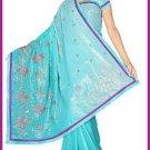 Indian Bollywood Designer Saree Embroidered Sari - TU5968