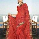 Indian Bollywood Designer Saree Embroidered Sari - TU5951