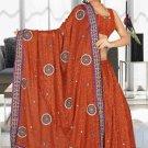 Indian Bollywood Designer Saree Embroidered Sari - TU5945
