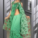 Indian Bollywood Designer Saree Embroidered Sari - TU5930