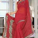 Indian Bollywood Designer Saree Embroidered Sari - TU5883