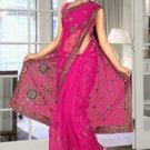 Indian Bollywood Designer Saree Embroidered Sari - TU5876