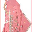 Indian Bollywood Designer Saree Embroidered Sari - TU5959
