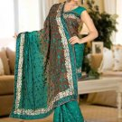 Indian Bollywood Designer Saree Embroidered Sari - TU5958