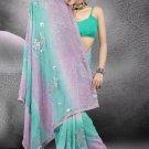 Indian Bollywood Designer Saree Embroidered Sari - TU481 -1
