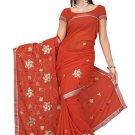 Indian Bollywood Designer Saree Embroidered Sari - TU473