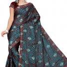 Indian Bollywood Designer Saree Embroidered Sari - TU386