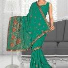 Indian Bollywood Designer Saree Embroidered Sari - Tu1930