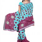 Indian Bollywood Designer Saree Embroidered Sari - TU362