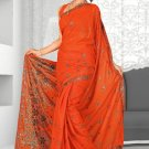 Indian Bollywood Designer Saree Embroidered Sari - Tu1937