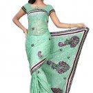 Indian Bollywood Designer Saree Embroidered Sari - TU101C
