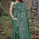 Indian Bollywood Designer Saree Embroidered Sari - TU 614