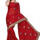 Indian Bollywood Designer Saree Embroidered Sari - TU105A