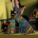 Indian Bollywood Designer Partywear Printed Saree Sari - VF 8329A