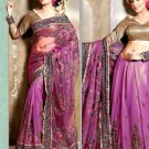 Indian Bollywood Designer Embroidery Saree Sari - VS1018