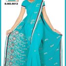Indian Bollywood Designer Embroidered Saree Sari - Tu5612