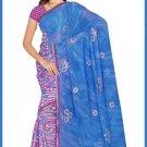 Indian Bollywood Designer Embroidered Saree Sari - Tu6338