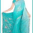 Indian Bollywood Designer Embroidered Saree Sari - Tu5624
