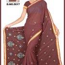 Indian Bollywood Designer Embroidered Saree Sari - Tu5617