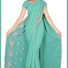 Indian Bollywood Designer Embroidered Saree Sari - Tu5609